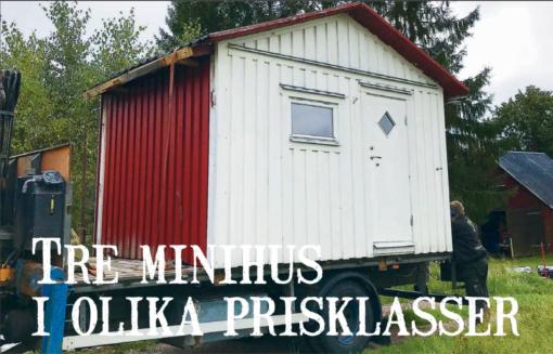 Tre minihus i olika prisklasser