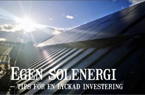 Egen solenergi